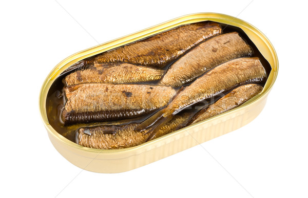 Sprat fish canned isolated Stock photo © Givaga