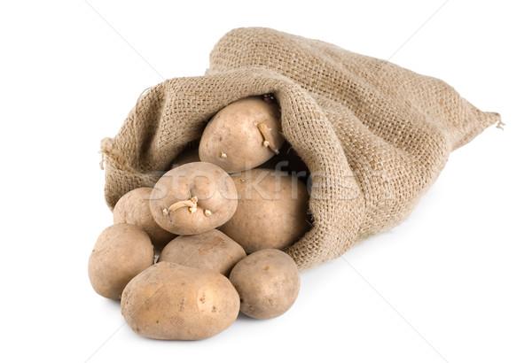 Potatoes in a hessian sack Stock photo © Givaga