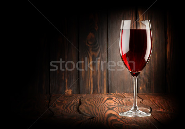 Wineglass of red win Stock photo © Givaga