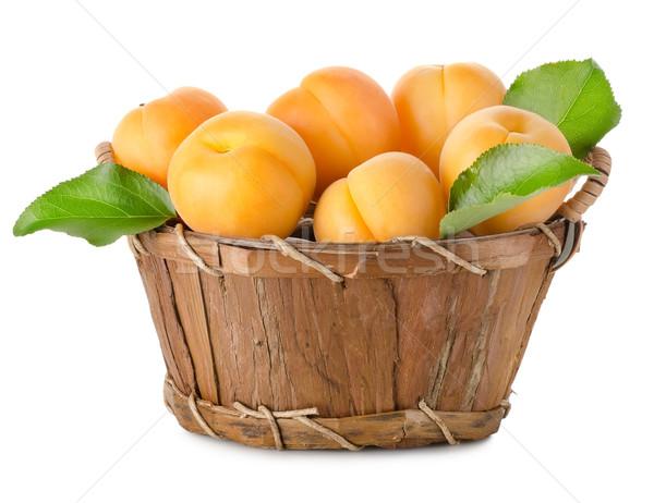 корзины изолированный белый древесины фрукты зеленый Сток-фото © Givaga