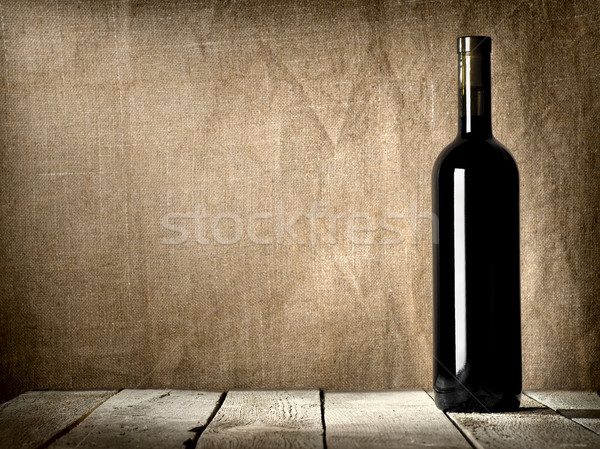 Black bottle of wine Stock photo © Givaga