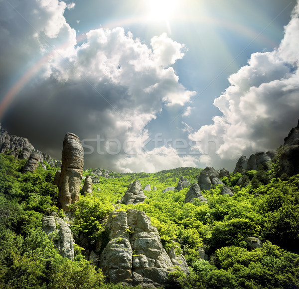 Valley of ghosts in Ukraine Stock photo © Givaga