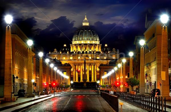 Vaticano notte strada nuvoloso cielo Italia Foto d'archivio © Givaga