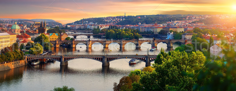 Overview of old Prague  Stock photo © Givaga