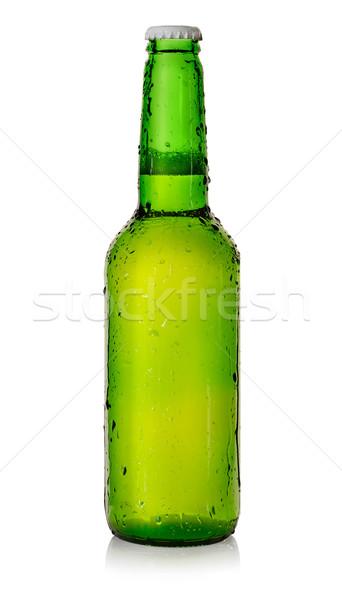 Cerveja verde garrafa isolado branco beber Foto stock © Givaga