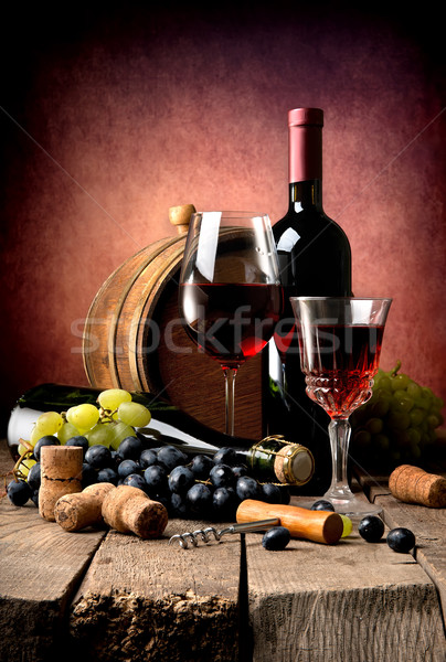 Cabernet and grape Stock photo © Givaga