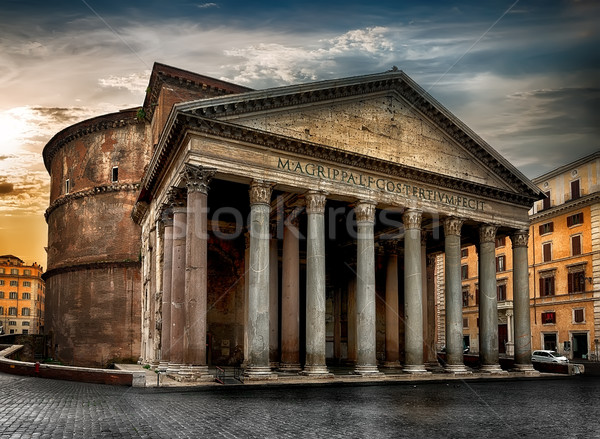 Ancient roman Pantheon Stock photo © Givaga