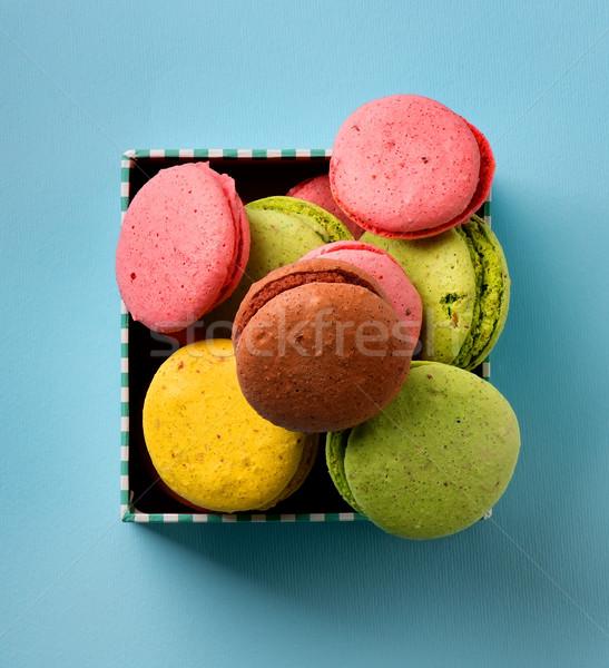 Macarons окна красочный шкатулке синий текстуры Сток-фото © Givaga