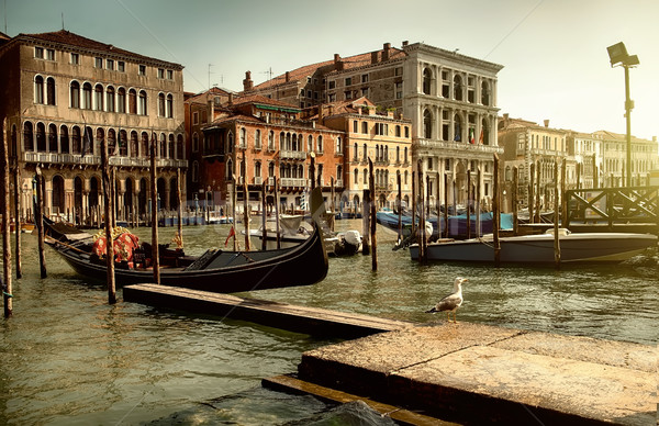 Gondola pier in Venice Stock photo © Givaga