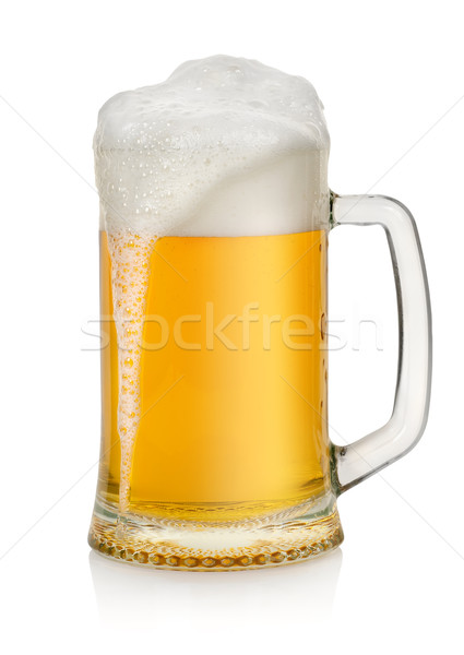 Stock photo: Mug with beer isolated
