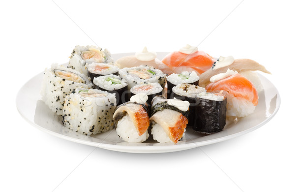 Sushi and rolls in a dishes Stock photo © Givaga
