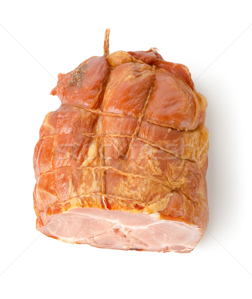 Füstölt szalonna izolált fehér étel marhahús Stock fotó © Givaga