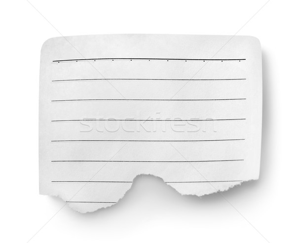 Sheet of lined paper Stock photo © Givaga
