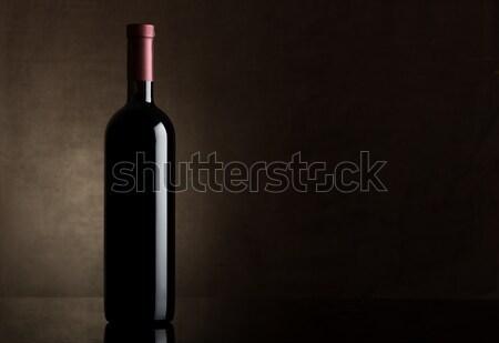 Black bottle of dry wine Stock photo © Givaga