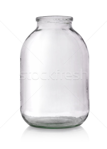 Grand verre jar vide isolé blanche Photo stock © Givaga