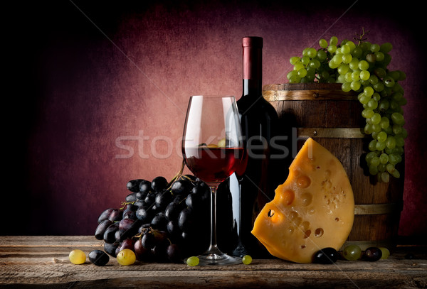 Wine with maasdam Stock photo © Givaga