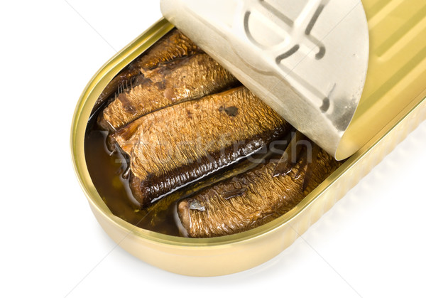 Canned sardines isolated Stock photo © Givaga