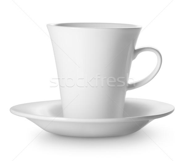 Csésze csészealj izolált fehér étel forró Stock fotó © Givaga