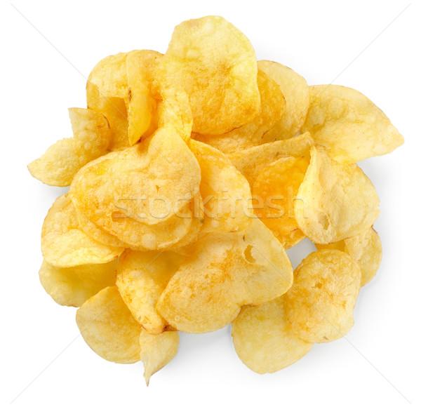Yalıtılmış beyaz gıda yeme sarı Stok fotoğraf © Givaga