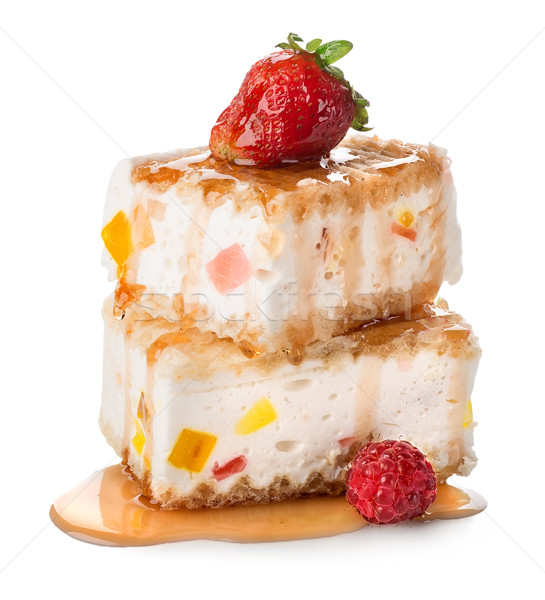 Cakes with souffle and marmelade Stock photo © Givaga