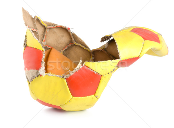 Old ragged soccer isolated Stock photo © Givaga