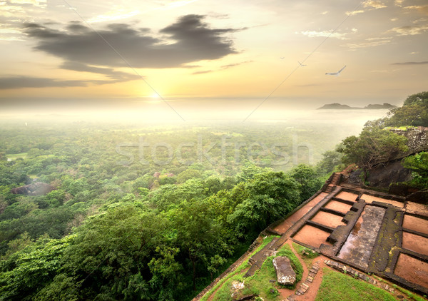 Ruins on Sigiriya Stock photo © Givaga