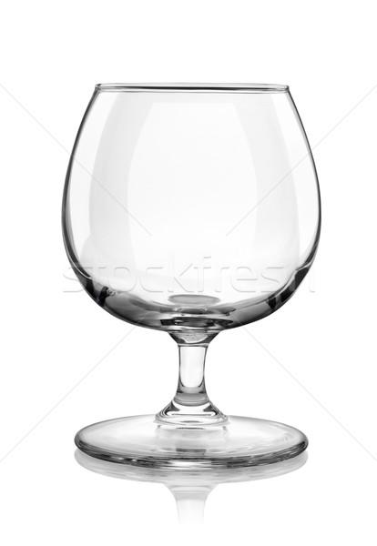 Brandy vidrio aislado blanco Foto stock © Givaga
