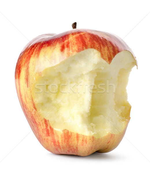 Eaten red apple isolated Stock photo © Givaga