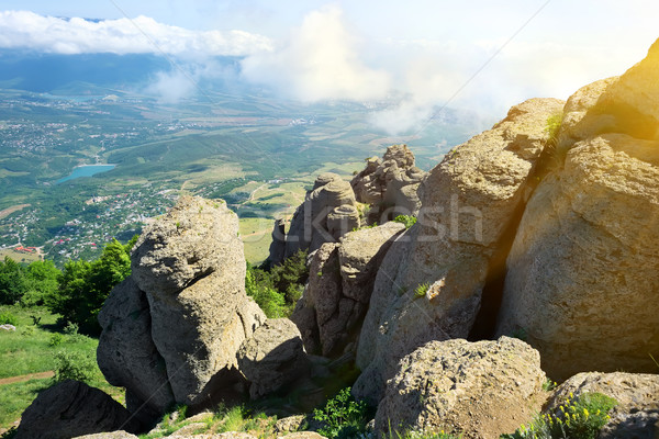 Valley of ghosts in Crimea Stock photo © Givaga