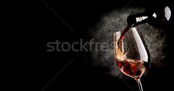 ワイン 黒 ワイングラス パーティ ガラス ストックフォト © Givaga
