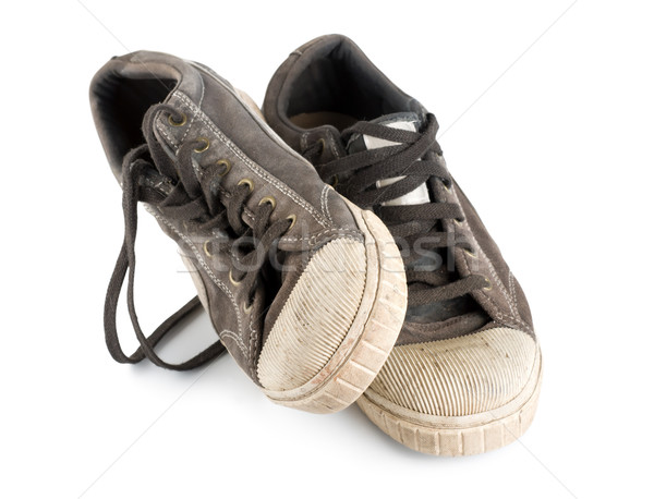 Pair old sneakers Stock photo © Givaga