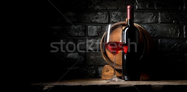 Wine and bricks Stock photo © Givaga