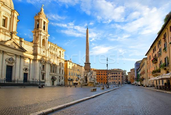 Rzym rano Włochy niebo wody budynku Zdjęcia stock © Givaga