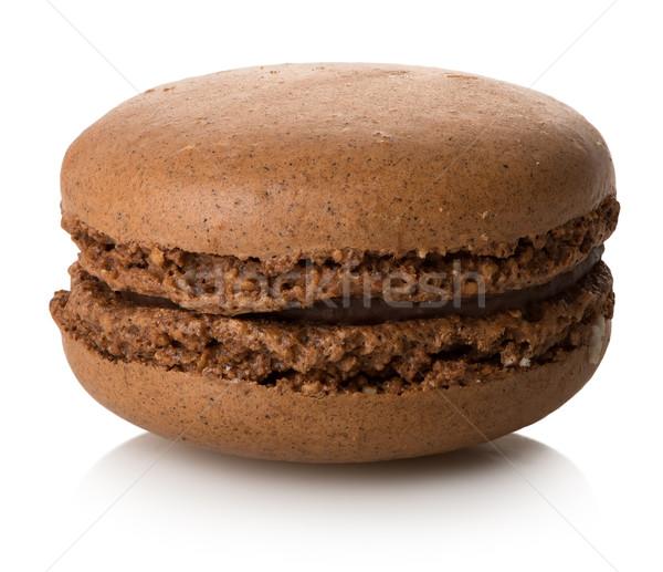 マカロン 孤立した 1 白 食品 チョコレート ストックフォト © Givaga