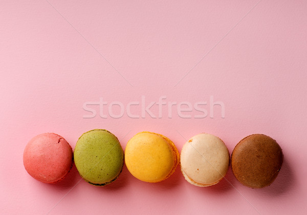 Macarons on pink Stock photo © Givaga