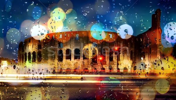 Zdjęcia stock: Włochy · tle · Rzym · niebo · szkła