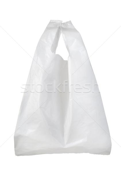 Bianco plastica bag isolato Foto d'archivio © Givaga