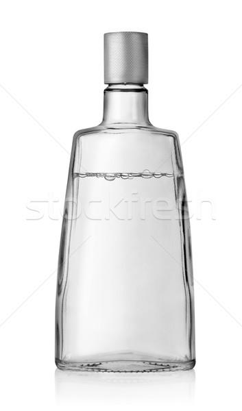 Wodka fles dekken geïsoleerd witte alcohol Stockfoto © Givaga