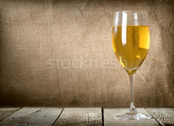 Glass of dessert white wine Stock photo © Givaga
