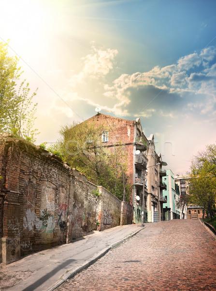Ház utca keleti Európa város utazás Stock fotó © Givaga