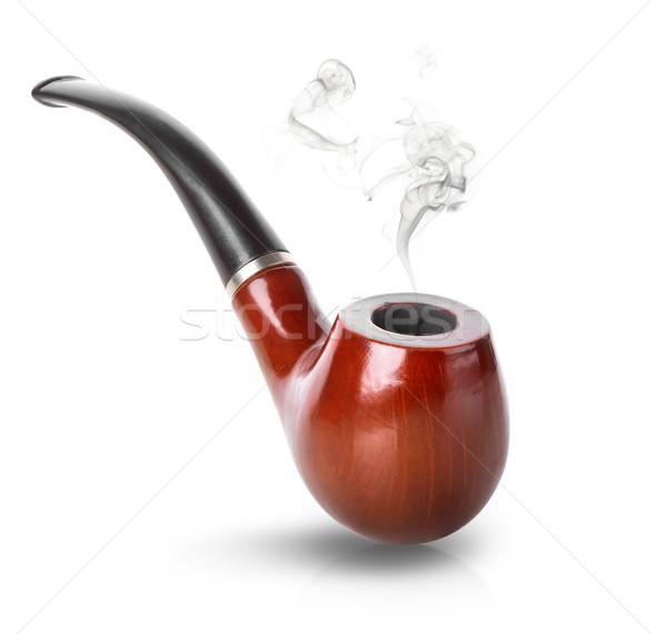 табак трубы изолированный белый дым Vintage Сток-фото © Givaga