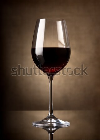 Red wine in glass Stock photo © Givaga