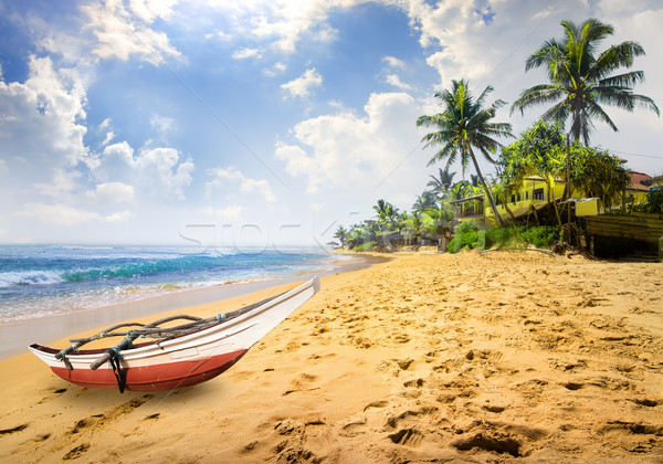 Stock photo: Boat on a beach