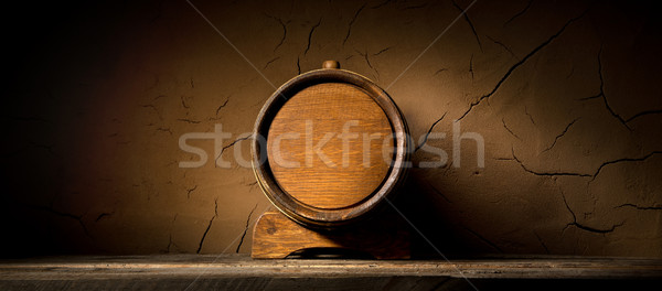 Stock photo: Cask near wall