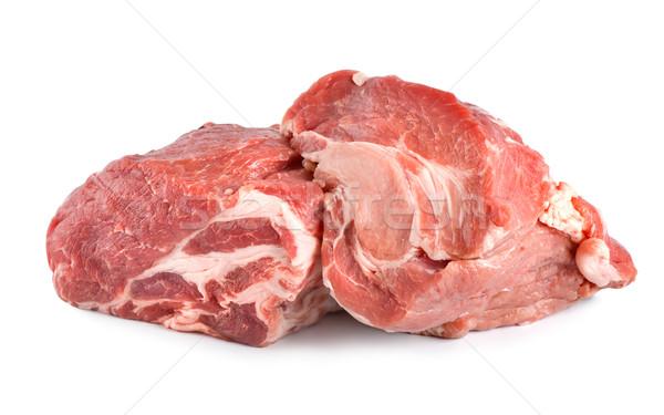 Raw pork tenderloin isolated Stock photo © Givaga
