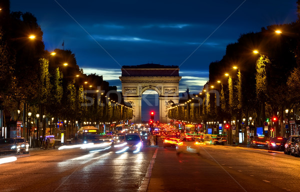 Arc de Triompthe in evening Stock photo © Givaga