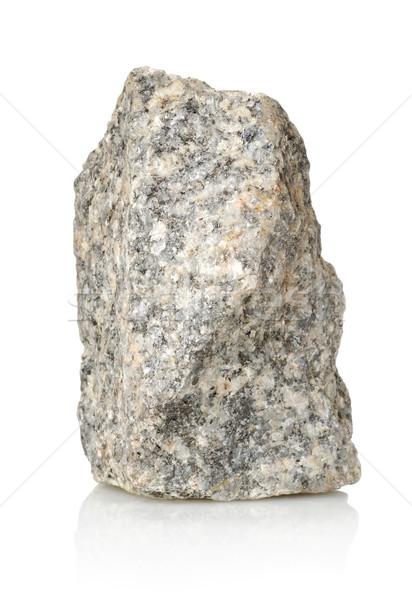 Szürke kő sóder izolált fehér gránit Stock fotó © Givaga