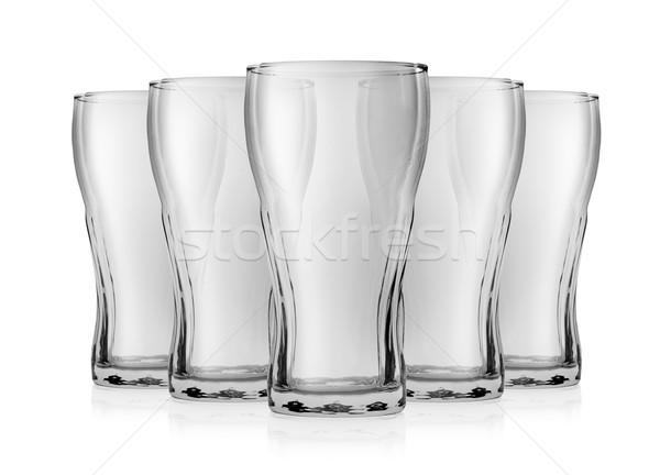 Vide verre Cola isolé blanche propre Photo stock © Givaga