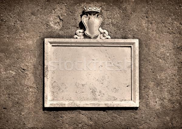 Fal Róma antik mintázott kő textúra Stock fotó © Givaga