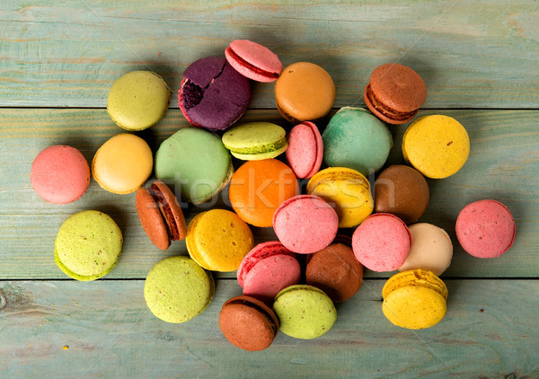 Macarons on table Stock photo © Givaga
